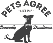 Pet Agree Log.  Silhouette of a dog with a monocle.